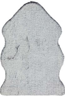 Willow faux Fur Charcoal tipped Rug