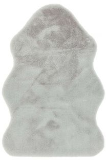 Willow faux Fur Silver Rug
