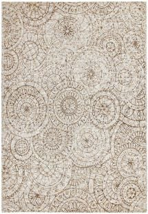 Xylo Hand Sewn Cowhide Laser Design Rug