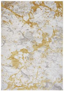 Sale Astral Rug AS09 Ochre 3D Abstract Style 120x180cm