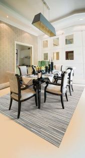 Capelle Silver Rug Wool Leather
