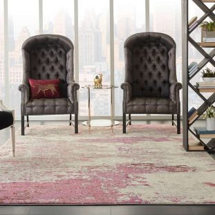 Celestial Ivory Pink CES02 Rug