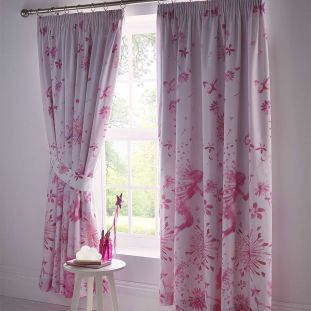 Childrens Fairy Princess Lined Curtains