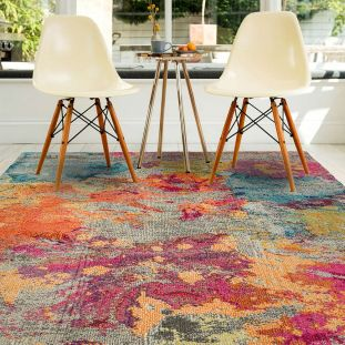 Colores Cloud Galactic CO04 Abstract Multi Coloured Rug