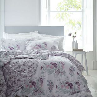 Quilted Floral Hampton Throwover Ivory Pink