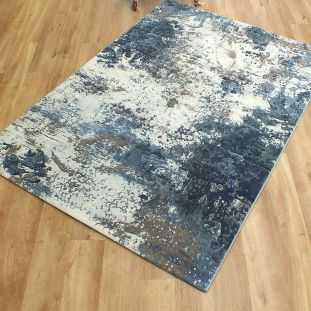 Galleria Rug Blue Abstract 630395 7656