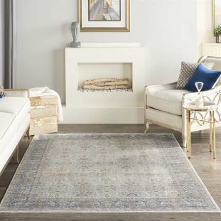 Grey Traditional Rug Starry Nights STN08