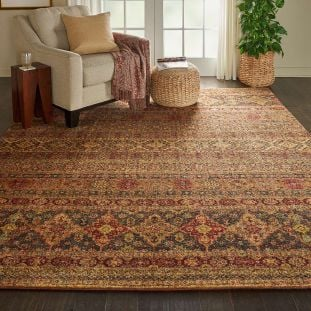 Traditional Jewel JEL03 Blue Red Rug