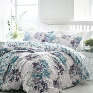 Kew Floral Quilted Throwover Ivory Teal
