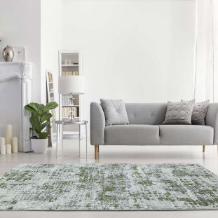 Orion OR08 Abstract Green Modern Abstract Rug