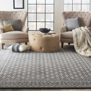 Palermo Charcoal Silver PMR02 Rug