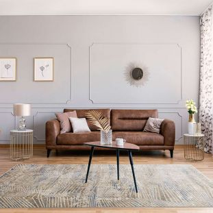 Pollo POLL108 Taupe Grey Rug by Concept Looms