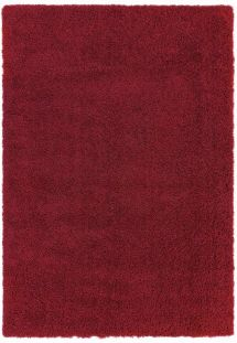 Ritchie Shag Pile Rug Red