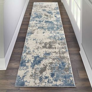 Abstract Rustic Textures RUS08 Grey Blue 66x229