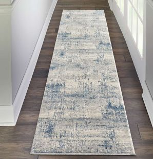 Sale Abstract Rustic Textures RUS10 Ivory Blue160x221