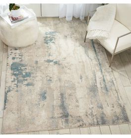 Sale Abstract Maxell Rug MAE17 Ivory Teal 160x221cm