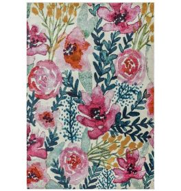 Amelie AM02 Meadow Abstract Multi Coloured Rug