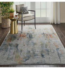 Abstract Ankara Global ANR09 Ivory Multi Rug
