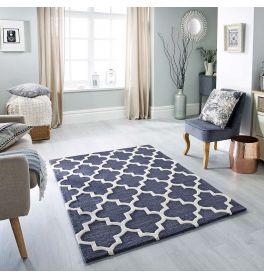 Arabesque Wool Rug Slate