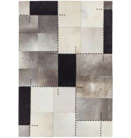 Xylo Hand Sewn Cowhide Mono Cross Stitch Rug