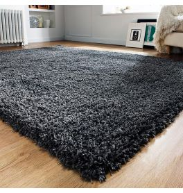 On Sale Athena Shaggy Medium Rug Charcoal 120x170cm