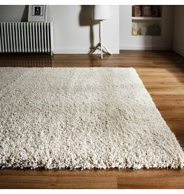 On Sale Athena Small Shaggy Rug Ivory 80x150cm
