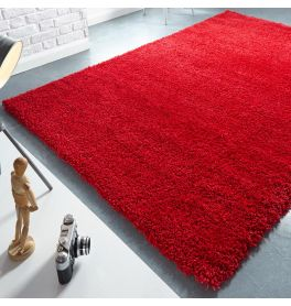 Athena Shaggy Rug Red