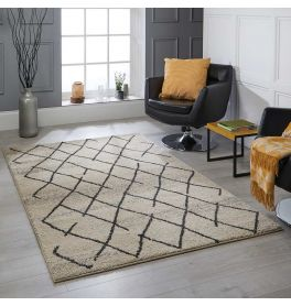 Atlas 5502 W Cream Tribal Rug 160x230cm