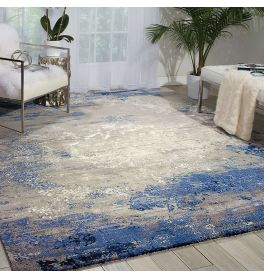 Blue Grey Twilight Rug Windswept Sky TWI22