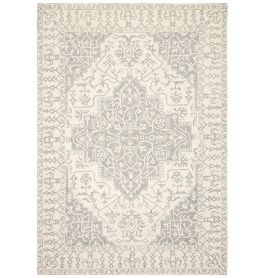 Bronte Traditional Indian Rug Silver Grey