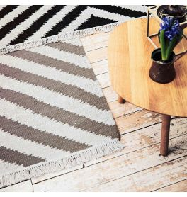 Carpets & Co Edgy Corners Grey Beige Rug