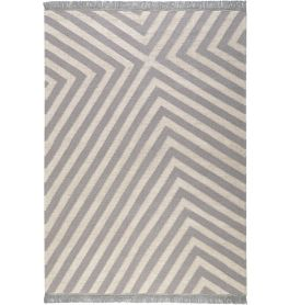 Carpets & Co Edgy Corners Grey Ice Blue Rug