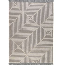 Carpets & Co Irregular Fields Grey-Ice Blue Rug