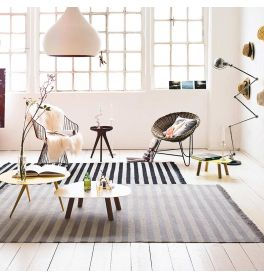 Carpets & Co Noble Stripes Beige Rug