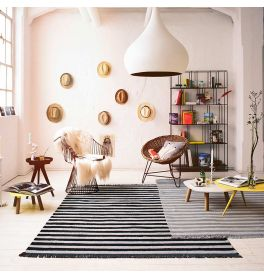 Carpets & Co Noble Stripes Black Rug