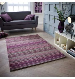 Carter Rug Berry Stripe
