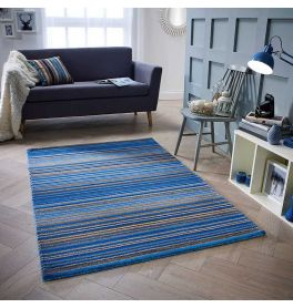 Carter Rug Blue Stripe