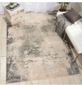 On Sale Contemporary Maxell Rug MAE13 Ivory Grey 66x229cm