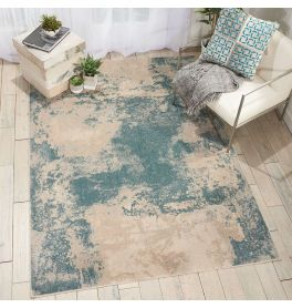 On Sale Contemporary Maxell Rug MAE13 Ivory Teal 117x178cm