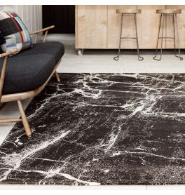 Cosmos Stylish Rug 02 Black Marble