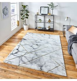 Sale Craft 23299 Abstract Ivory Gold Rug 160x220cm