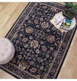 Da Vinci Rug Blue Gold Rust 570166 3434