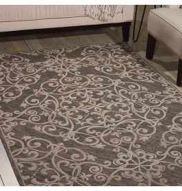 Damask Rug Grey DAS01