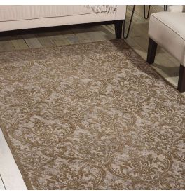 Damask Rug Grey DAS02