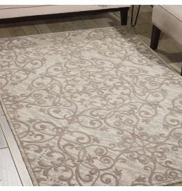 Damask Rug Ivory Grey DAS01