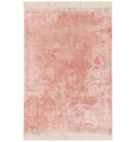 On Sale Elgin Tassels Medium Rug Pink Silver Border 160x230cm size