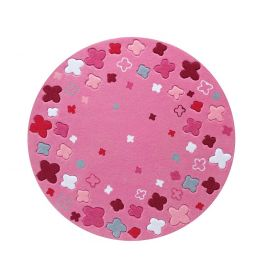 Esprit Bloom Field Pink Round Rug