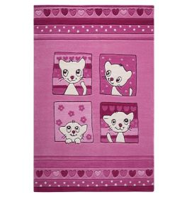 SMART KIDS Kitty Kat Pink Rug