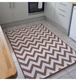 Trieste Traditional Patterned Terracotta Rug
