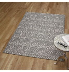 Flatweave Brighton Rug Grey Cream